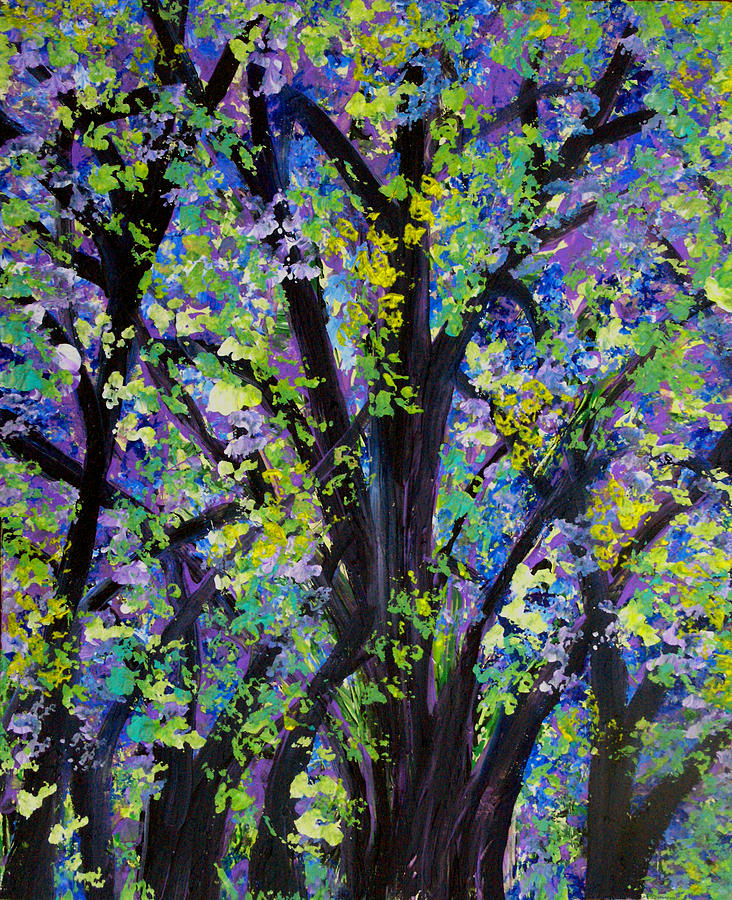 Woodland Vacation Painting  - Woodland Vacation Fine Art Print
