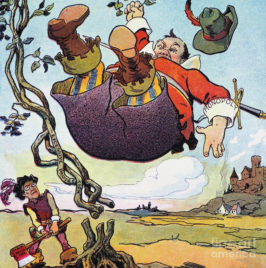 Woodrow Wilson Cartoon Photograph