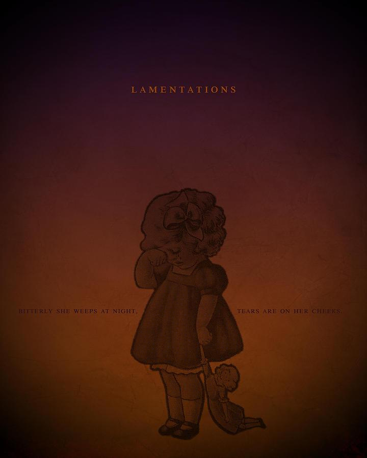 Word Lamentations Digital Art
