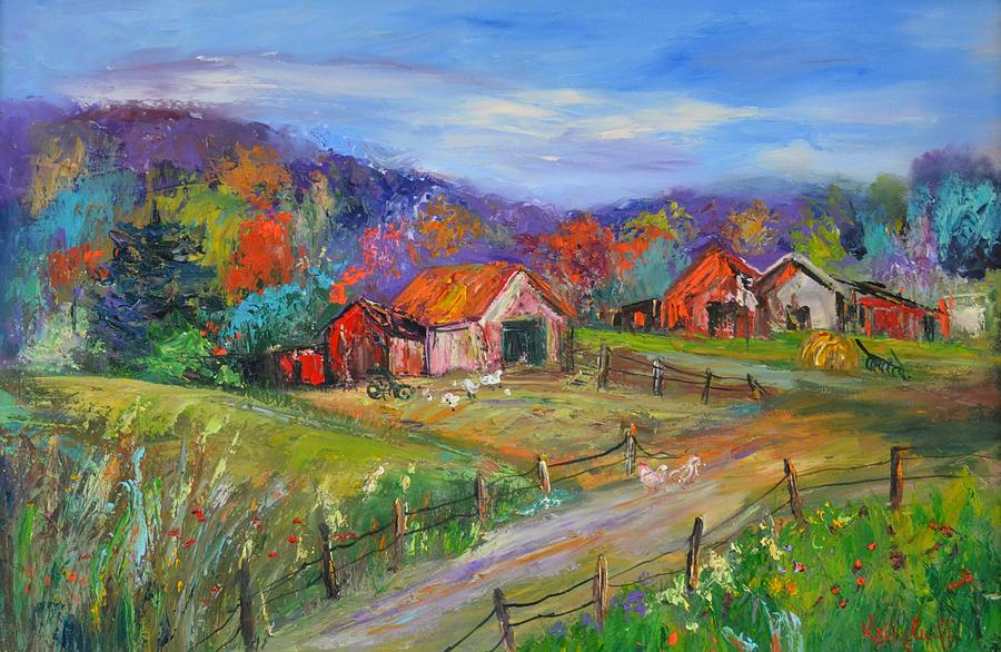 Working Farm Painting
