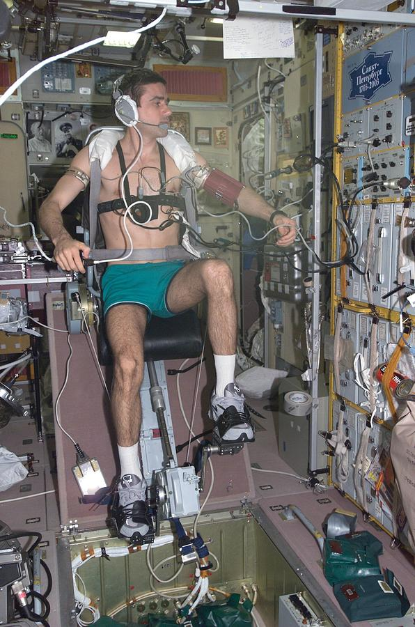 Working Out In Space. Cosmonaut Yuri Photograph