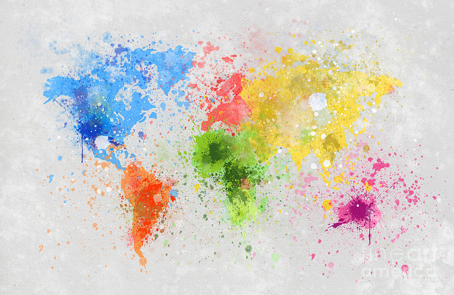 World Map Painting Painting  - World Map Painting Fine Art Print