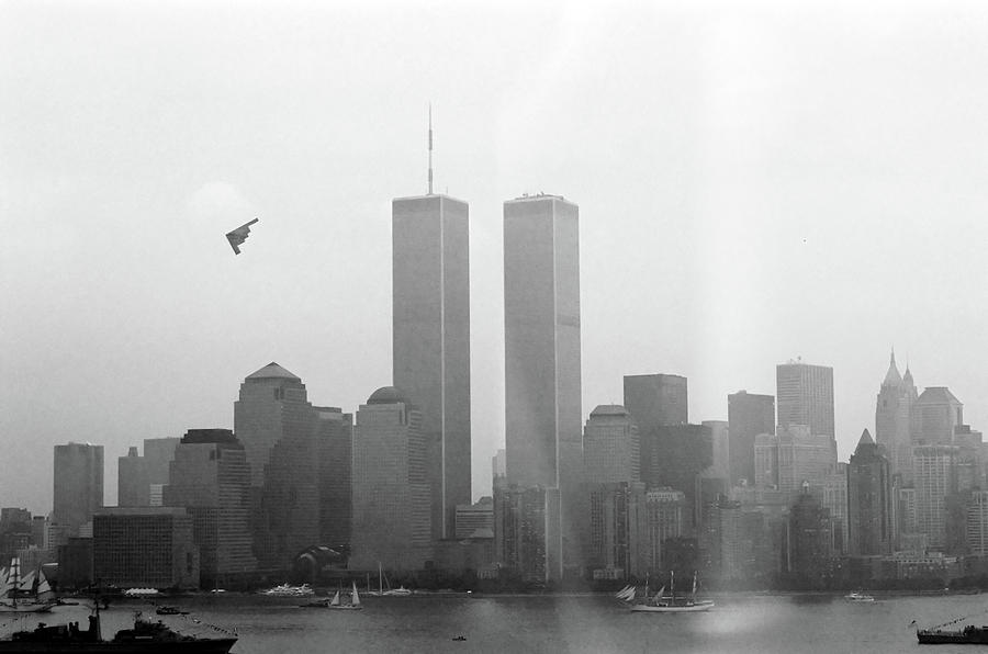 World Trade Center And Opsail 2000 July 4th Photo 18 B2 Stealth Bomber Photograph