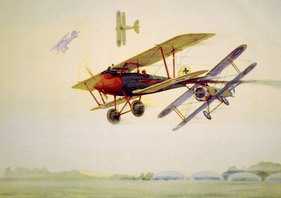 World War I Air Battle In Which Photograph