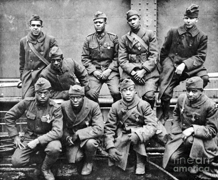 World War I: Black Troops Photograph