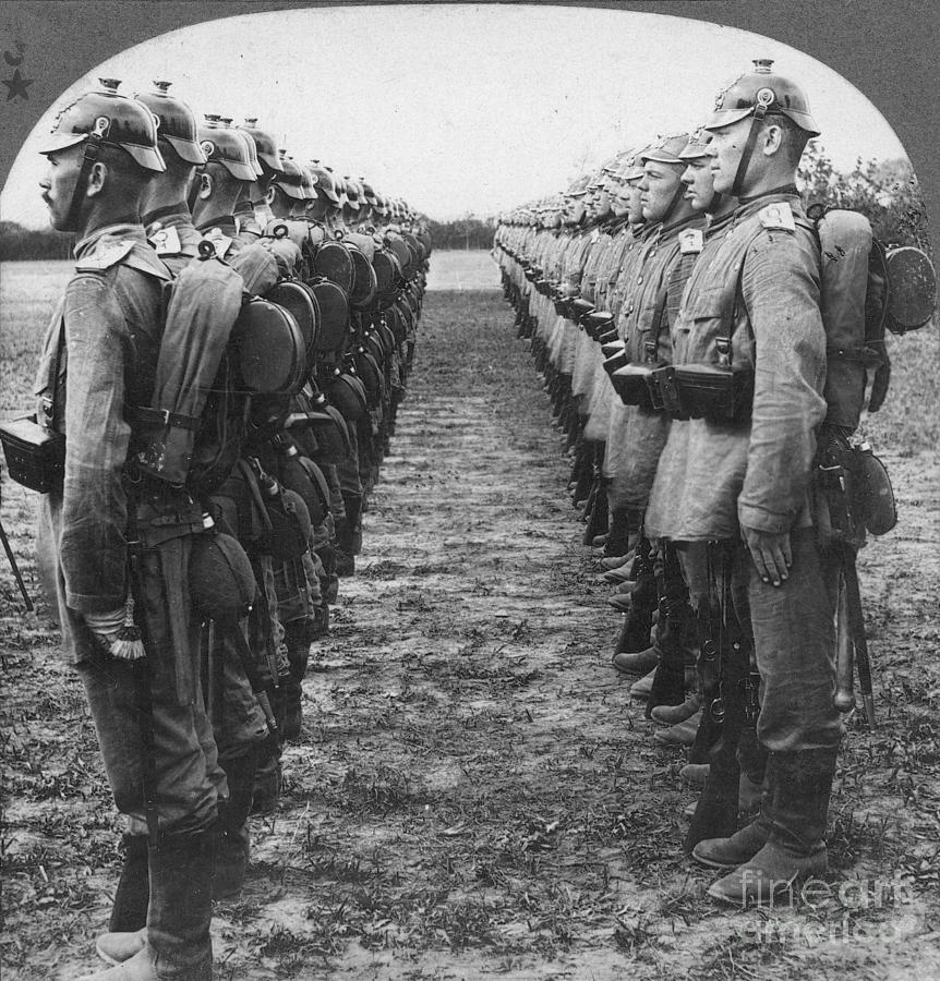 World War I: German Troop Photograph  - World War I: German Troop Fine Art Print