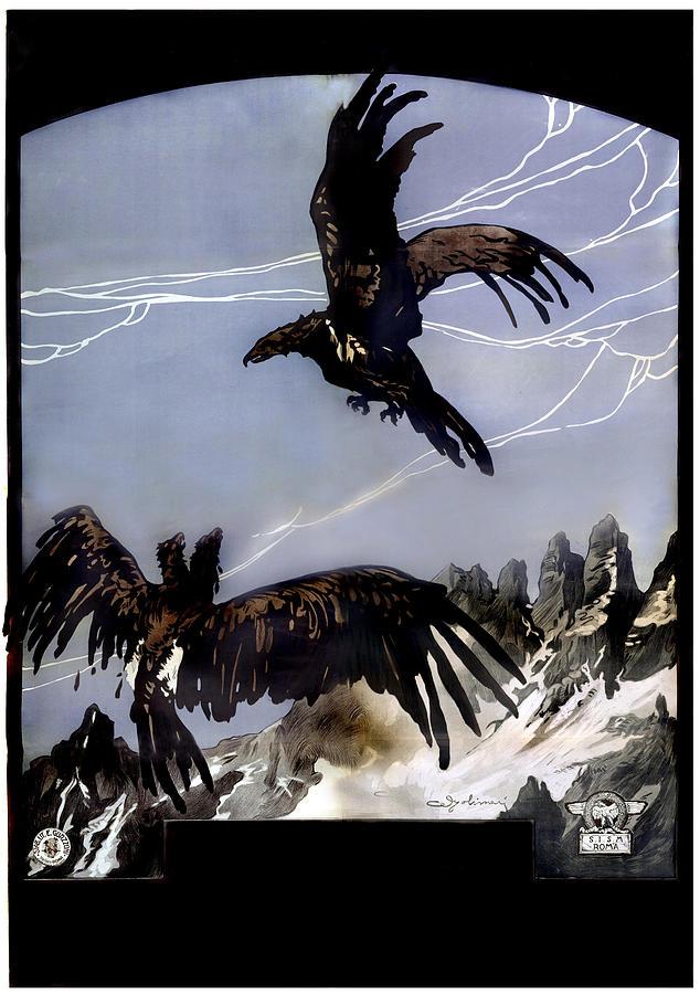1910s Photograph - World War I, Italian Eagle Attacking by Everett