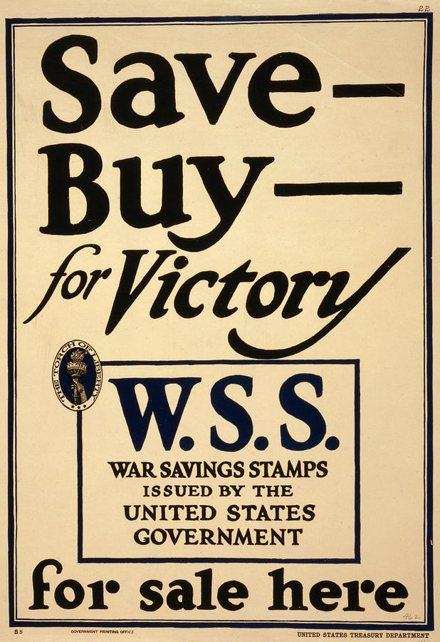 World War I, Poster - Save - Buy - Photograph  - World War I, Poster - Save - Buy - Fine Art Print