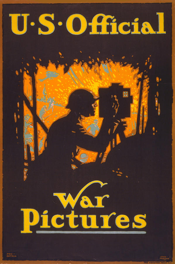 1910s Photograph - World War I, Poster Showing A War by Everett