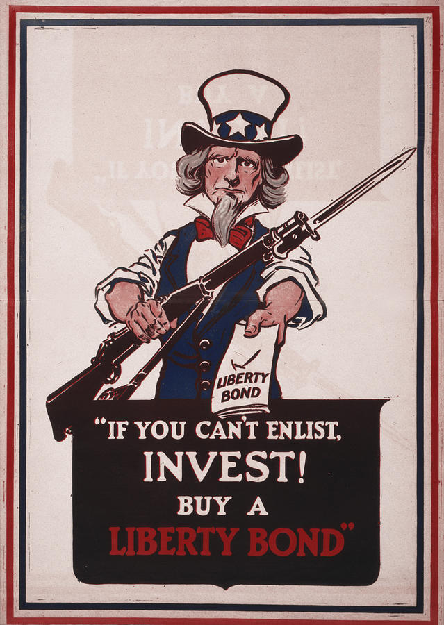 World War I, Poster Showing Uncle Sam Photograph  - World War I, Poster Showing Uncle Sam Fine Art Print