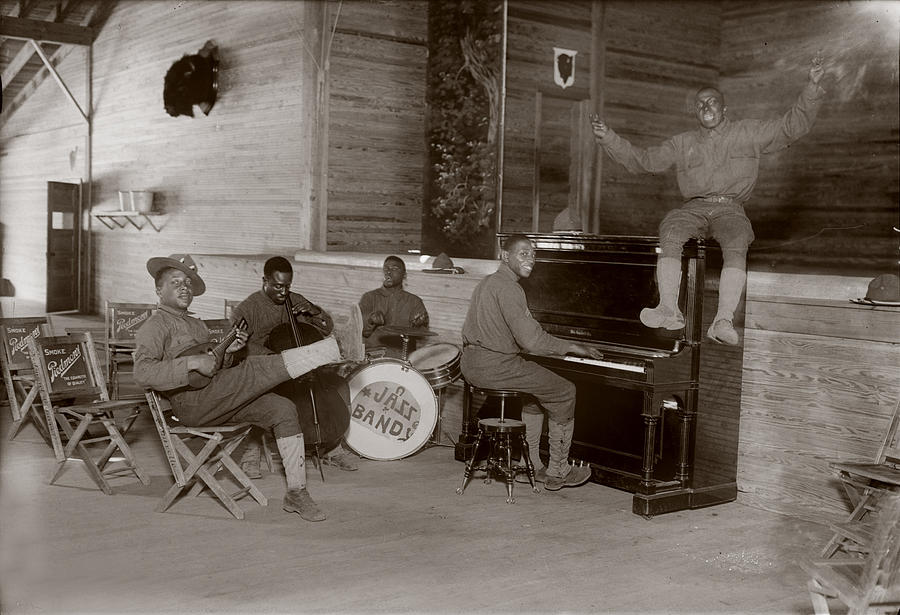 World War I, U.s. Army Jazz Band, Circa Photograph  - World War I, U.s. Army Jazz Band, Circa Fine Art Print