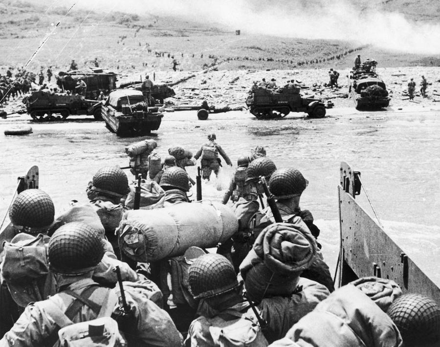 World War II D-day 1944 Photograph  - World War II D-day 1944 Fine Art Print