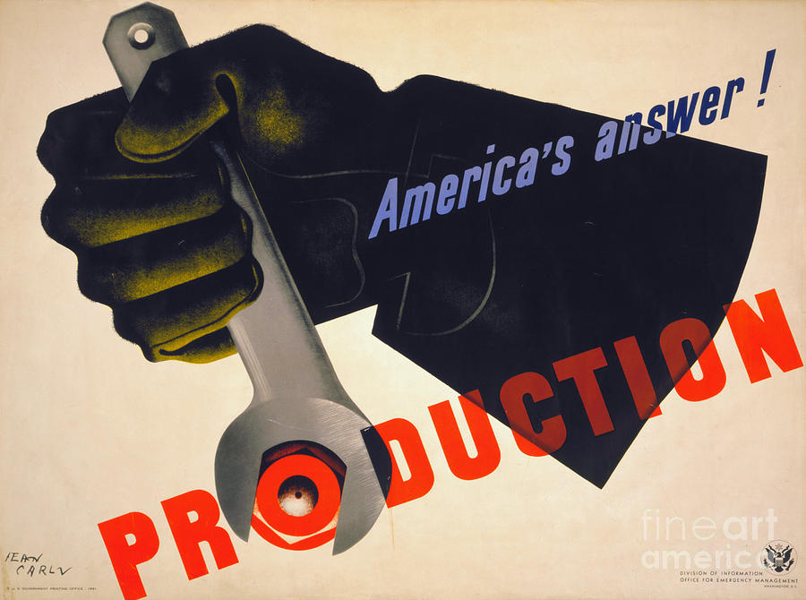 World War II Poster, 1941 Photograph  - World War II Poster, 1941 Fine Art Print