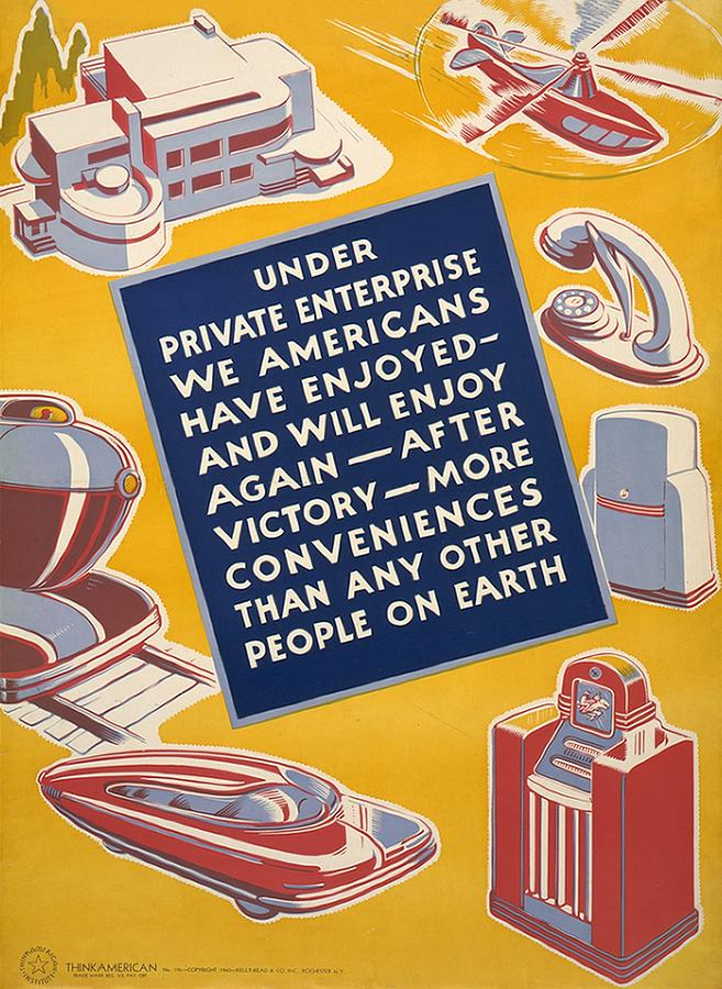 World War II Poster Reassuring Photograph