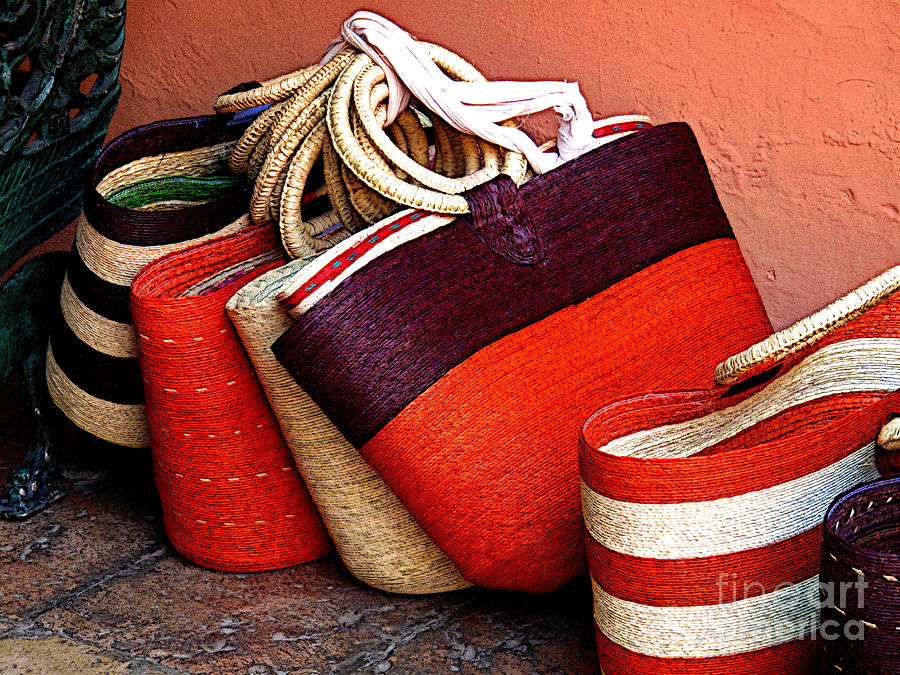 Woven Bags For Sale Photograph