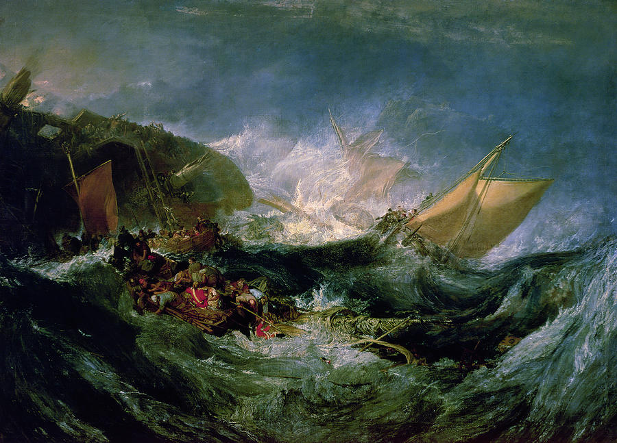 Wreck Of A Transport Ship Painting