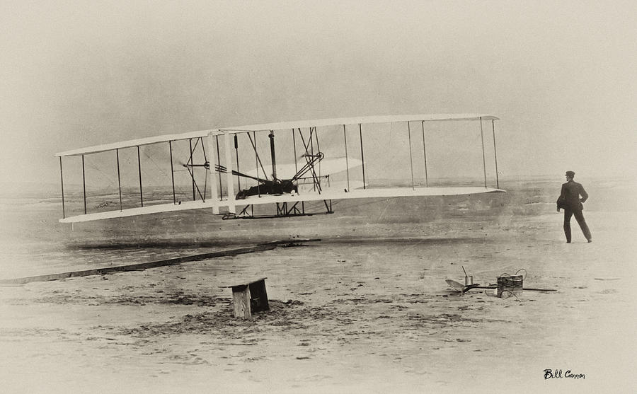 Wright Brothers - First In Flight Photograph  - Wright Brothers - First In Flight Fine Art Print
