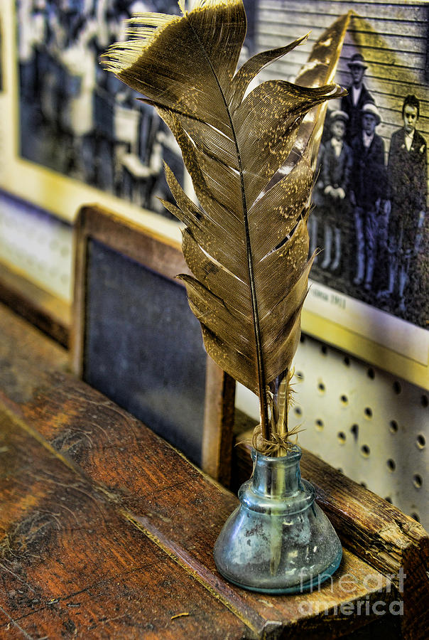 Feather Quill Pen Photograph - Writer - Quill And Ink by Paul Ward