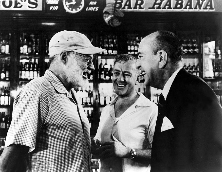 Writer Ernest Hemingway Chats Photograph