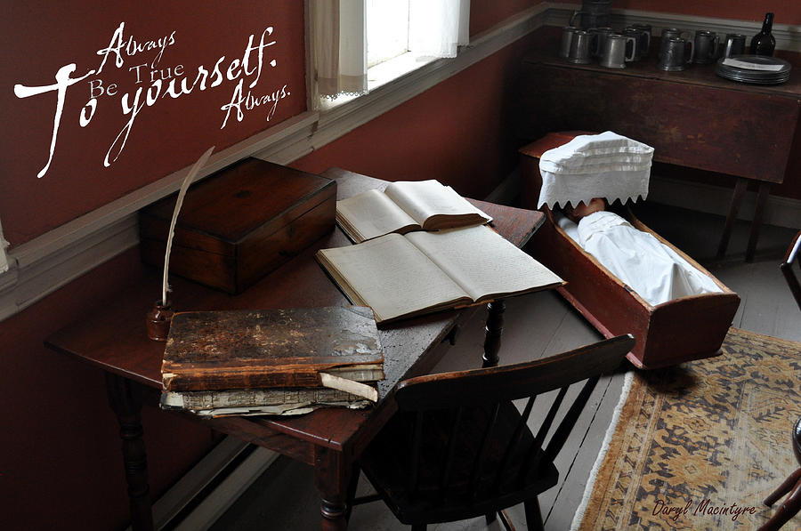 The Writing Desk Photograph - Writers Desk by Daryl Macintyre