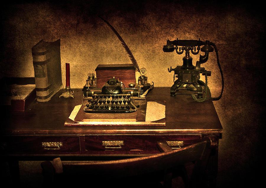 Alphabet Photograph - Writers Desk by Svetlana Sewell