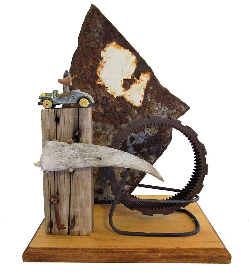 Assemblage Sculptures Sculpture - Wrong Directions by Snake Jagger