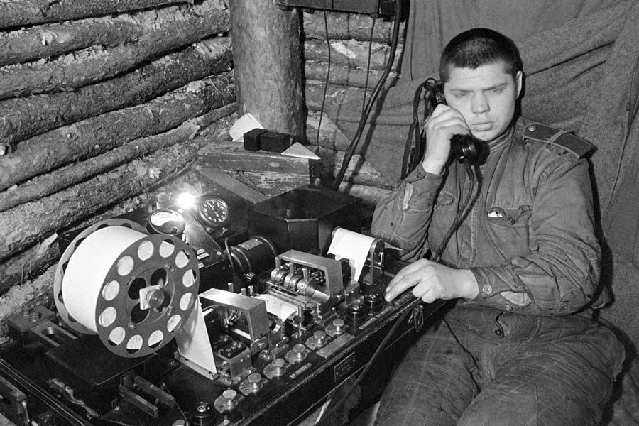 Ww2 Artillery Detection Equipment, 1944 Photograph