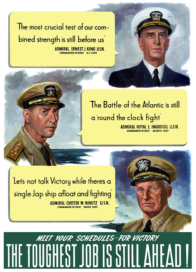 Ww2 Us Navy Admirals Painting