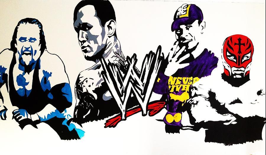wwe wall mural painting wwe wrestling mural on reddit from melissa barrett paint