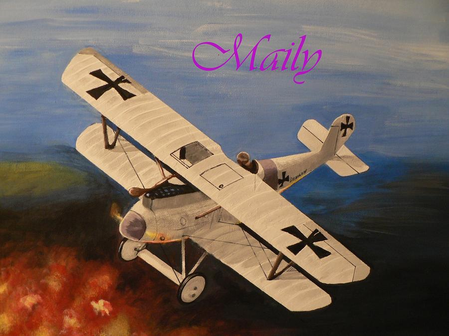 Wwi Aplane Painting