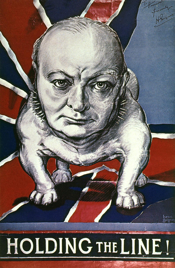 Wwii:churchill Poster 1942 Photograph