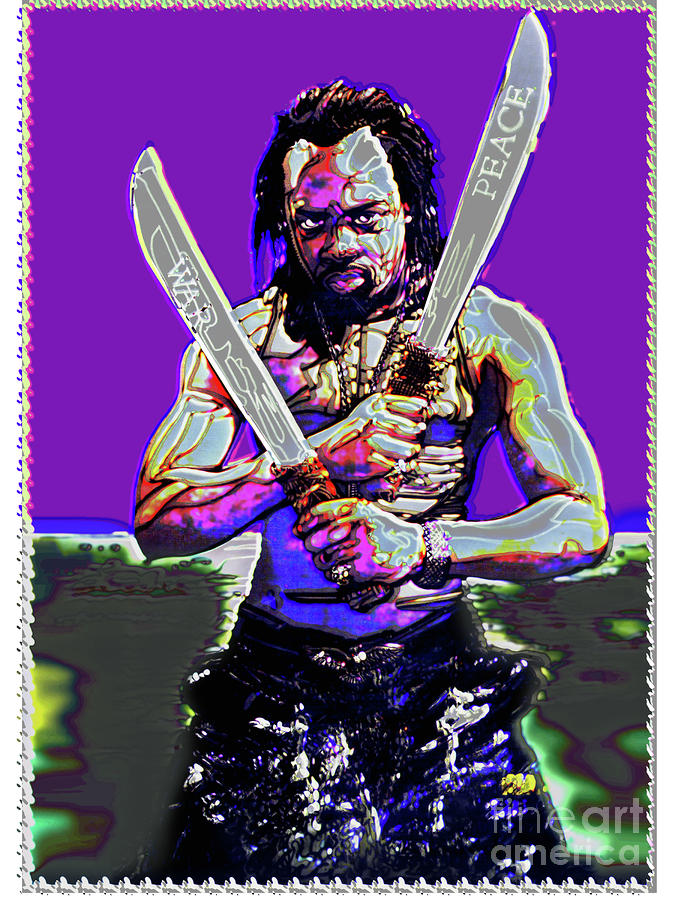 Wyclef Jean War And Peace Digital Art  - Wyclef Jean War And Peace Fine Art Print