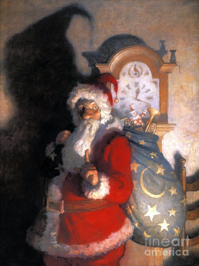 Wyeth: Old Kris (kringle) Painting