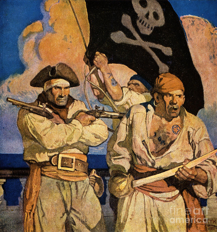 Nc Wyeth Treasure Island Paintings