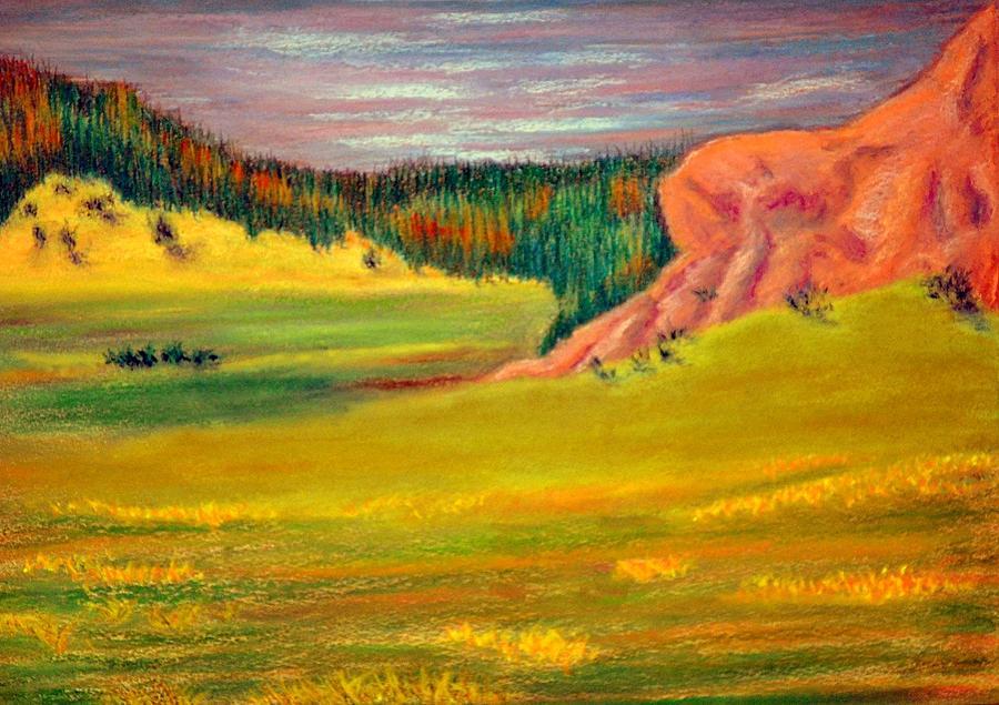 Wyoming Pastures Pastel