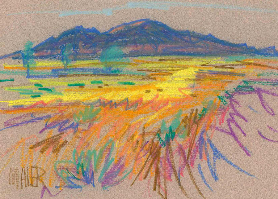 Wyoming Sketch Painting