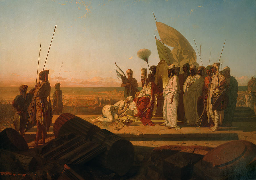 Xerxes At The Hellespont Painting