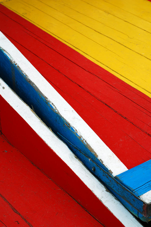 Xochimilco Boat Abstract 1 Photograph
