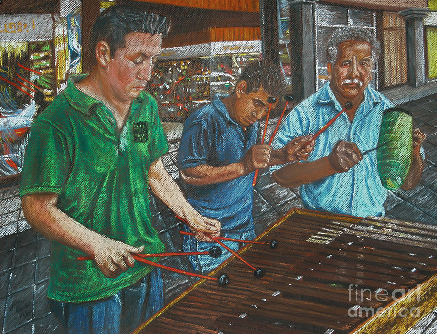 Xylophone Players Painting  - Xylophone Players Fine Art Print