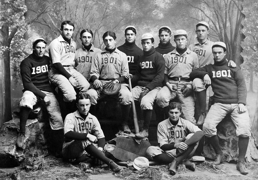 Yale Baseball Team, 1901 Photograph  - Yale Baseball Team, 1901 Fine Art Print