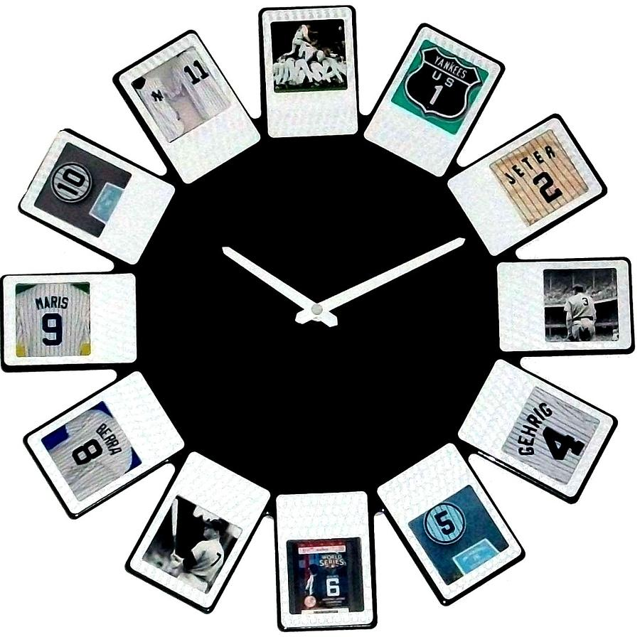 yankees Clock Sculpture  - yankees Clock Fine Art Print