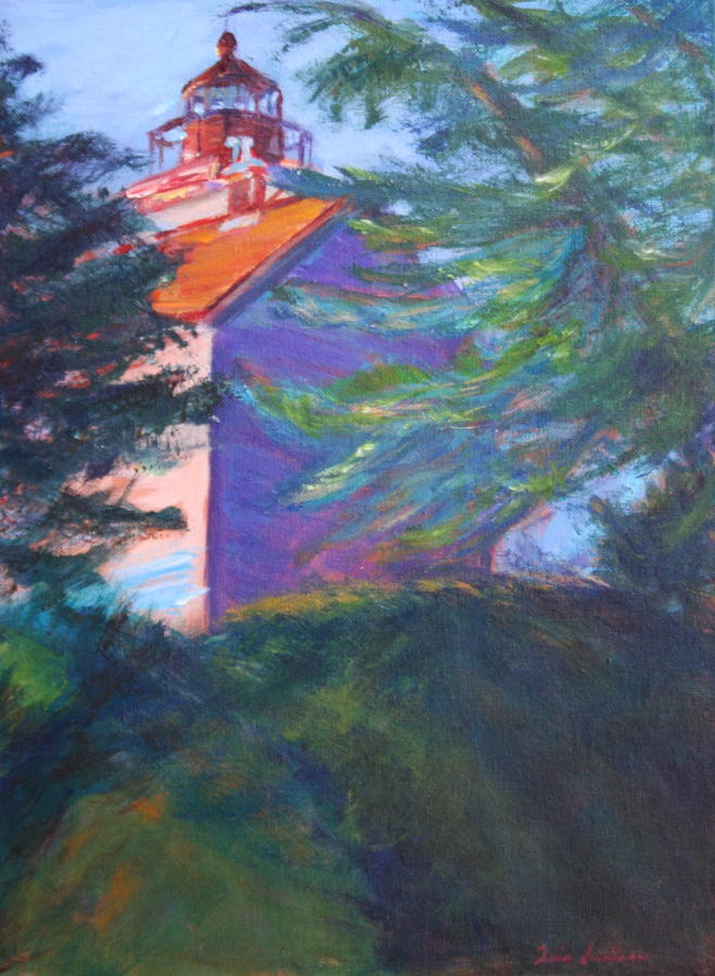 Yaquina Bay Lighthouse  Painting  - Yaquina Bay Lighthouse  Fine Art Print
