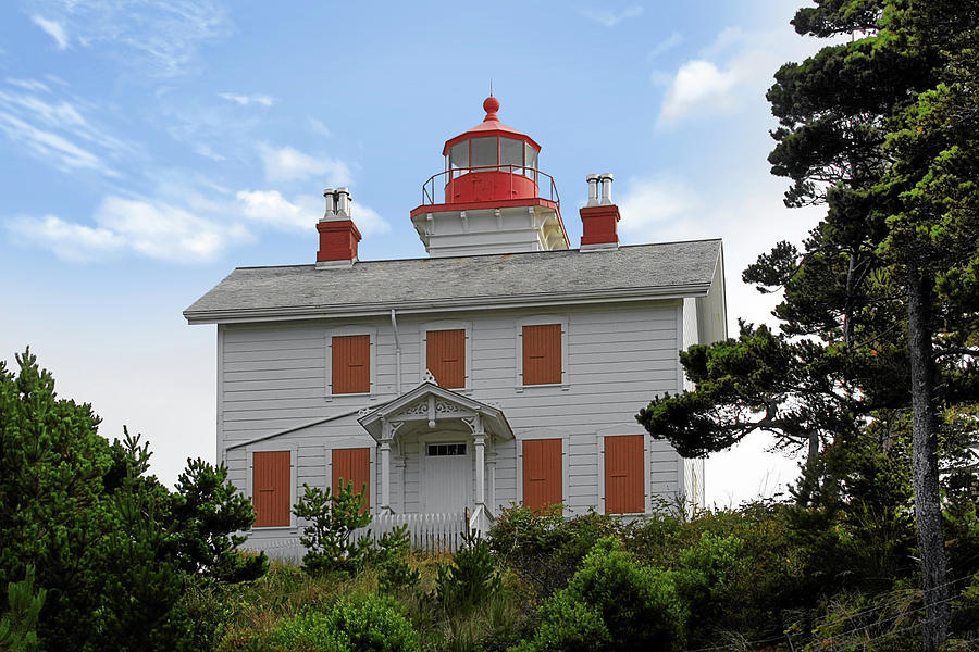 Yaquina Lighthouses - Yaquina Bay Lighthouse Oregon Photograph