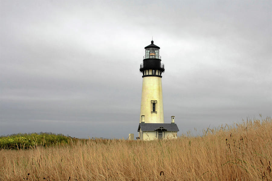 Yaquina Lighthouses - Yaquina Head Lighthouse Western Oregon Photograph