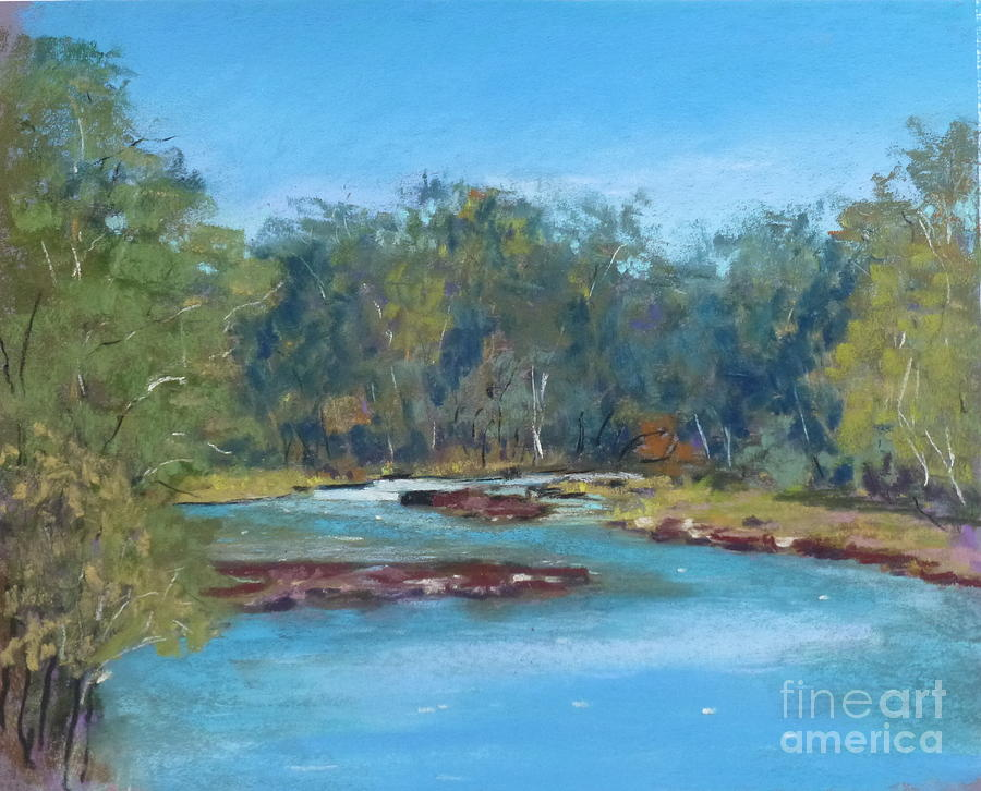 Yarra River Pastel - Yarra River Warrandyte by Nadine Kelly