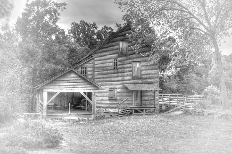 Yates Mill Black And White Photograph  - Yates Mill Black And White Fine Art Print