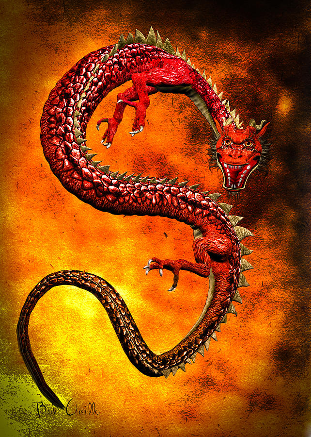 Year Of The Dragon Digital Art  - Year Of The Dragon Fine Art Print