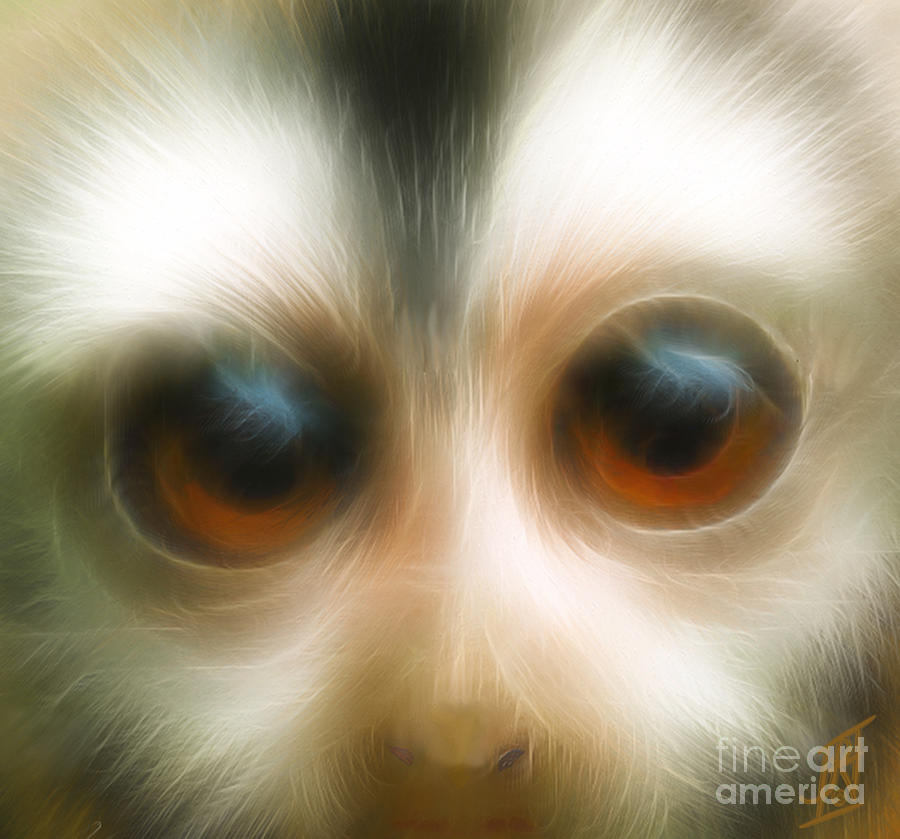 Year Of The Monkey Digital Art  - Year Of The Monkey Fine Art Print