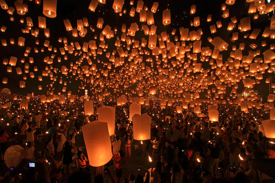 Yee Peng Festival In Thailand Photograph