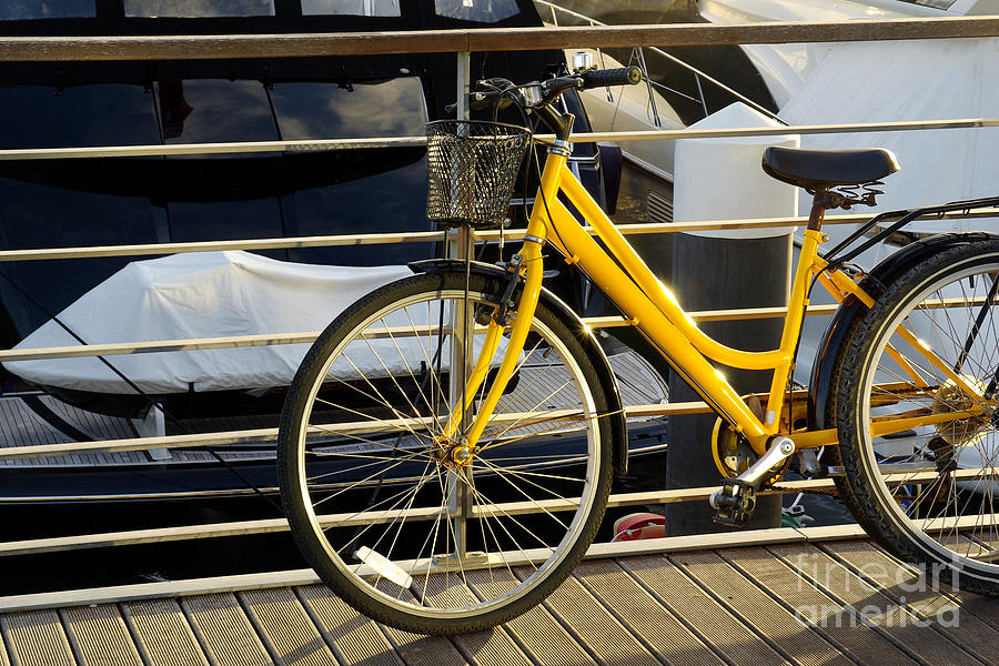 Yellow Bicycle Photograph  - Yellow Bicycle Fine Art Print